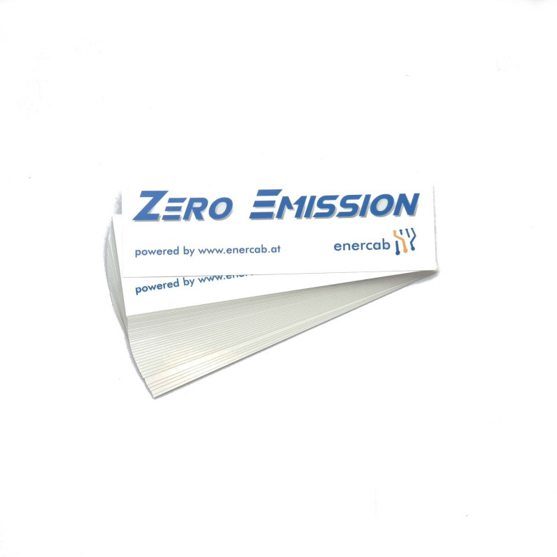 Sticker trans ZERO EMISSION