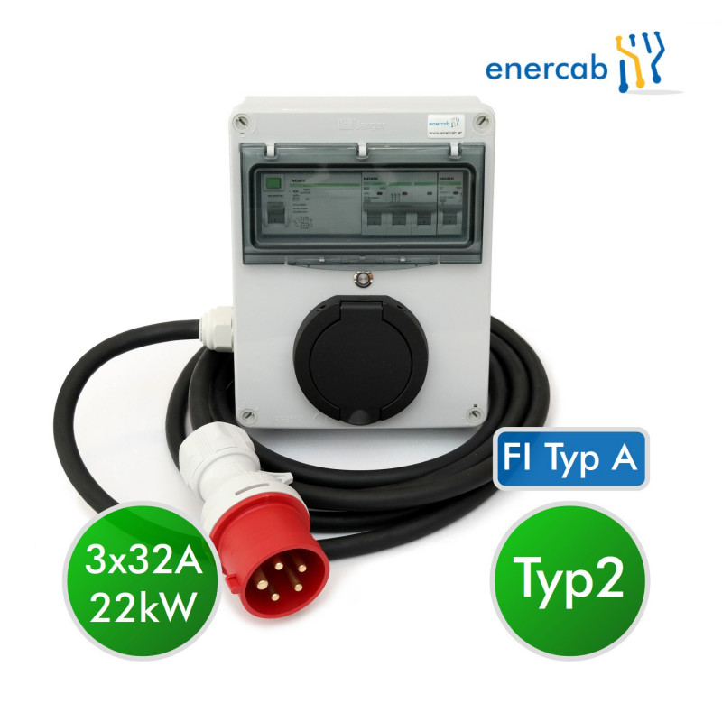enercab wallbox free T2 3x32A