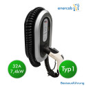 EVCharge station T1 1x32A spiral