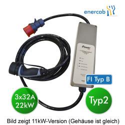 EV Portable Charger T2 3x32A DC