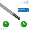 Energiekabel YSLY-JZ Eca 5 G 6mm² grau