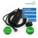 Zencar flexible free TÜV T2 16A-Schutzkontakt