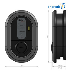 EVCharge station  T2 3x32A socket