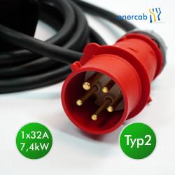 Zencar flexible free T2 1x32A-400CEE 7,4kW