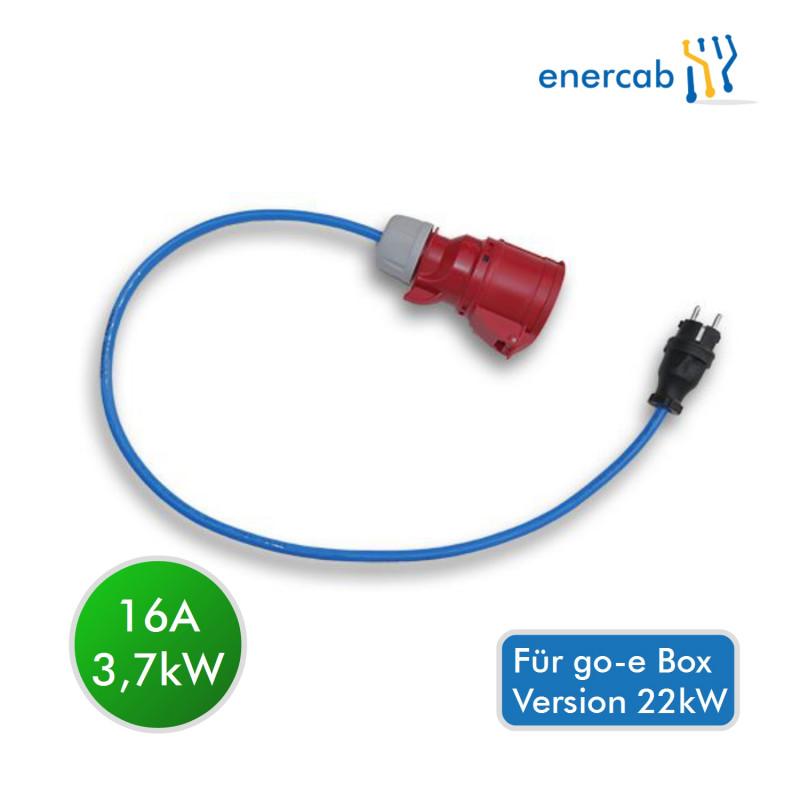 go-e Schutzkontakt Adapter (für 22kW-Charger)