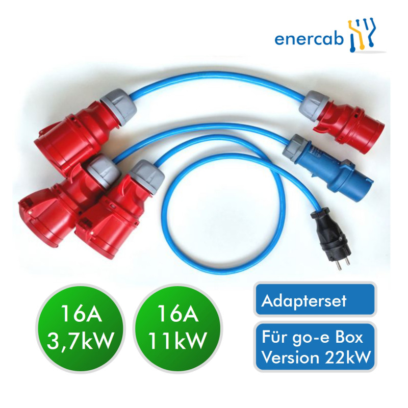 go-e Adapter Set 32A (für 22kW-Charger)