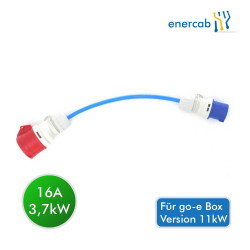 go-e 16A Rot auf 16A CEE Adapter Blau (für 11kW-Charger)