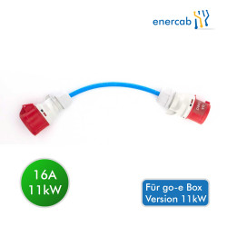go-e 16A auf 32A CEE Adapter Rot (für 11kW-Charger)