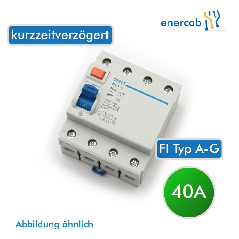 FI Typ A-G 40A 30mA AC 4P (N+3L) 400V