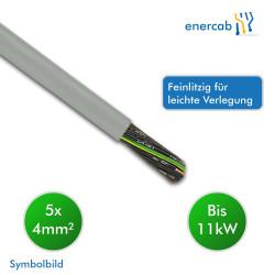 Energiekabel YSLY-JZ Eca 5x2,5mm² grau