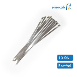 10Stk. Metallkabelbinder 8,0x360 Niro