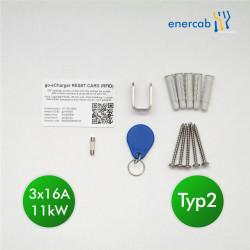 go-eCharger HOME+ 11kW (3x16A) Set + Kabel 22kW 5m