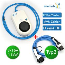 go-eCharger HOMEfix 11kW Kabel 11kW 8m blue