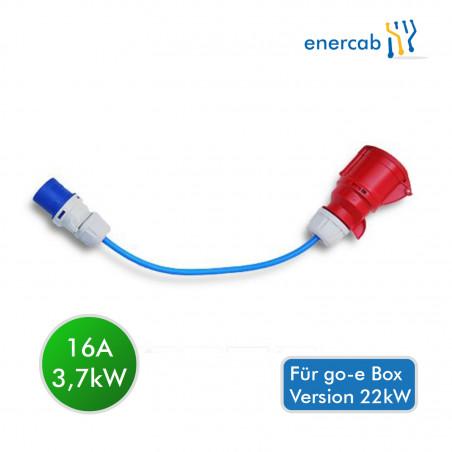 go-e 16A CEE Adapter Blau
