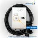 enercab wallbox edelstahl T2 cable 3x32A