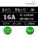 Zencar flexible free T2 16A-Schuko
