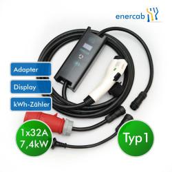 Zencar flexible free T1 32A-400CEE/Schuko