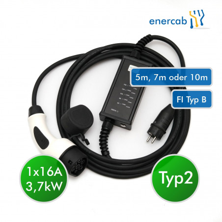 enercab flexible LED T2 16A-230SCHUKO