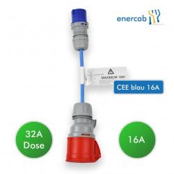 NRGkick Adapter 32A-16A CEE blau