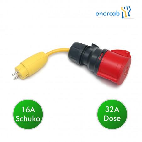adapter 32rot-Schuko