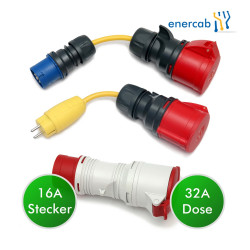 adapter set 32 +blau