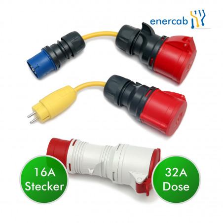 adapter set 32 +16blau
