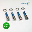 LED-set 12V gr/ge/ro/bl IP67 Edelstahl